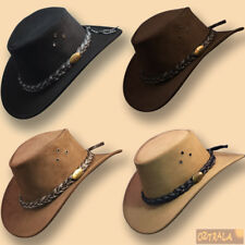 590b108ecba21 □oZtrALa□ BUFFALO LEATHER Jacaru Hat Cowboy Mens Women Childrens Kids  AUSTRALIAN