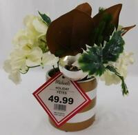 Michaels Holiday Christmas Floral Plant White Gold New Flowers Ornaments