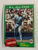 1981 Mike Schmidt # 540 Philadelphia Phillies Topps Baseball Card HOF