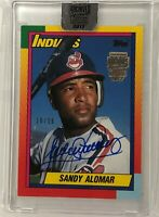 2017 Topps Archives Signature Sandy Alomar Jr 1990 Topps Traded 1st Indians /16