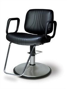 Belvedere Delta Modern Salon Styling Chair With Brushed Chrome Base