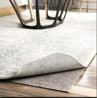 "0.025"" Thick Rug Pad Non-slip Grip Reduce Noise Carpet Mat for Hardwood Floor"