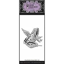New Paper Parachute cling RUBBER STAMP  FROG WITH WINGS Free USA ship