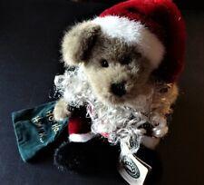 """Boyd'S Bears Santa Kringle 10"""" stuffed Teddy Bear~w/Kringle's Retreat Book"""