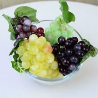 22X/60X Lifelike Artificial Grapes Plastic Fake Fruit Food Home Decor Decoration