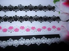 3 colors= Venise flower lace trim - price by the yard /select color/