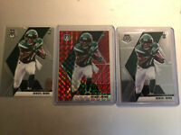 2020 Panini Mosaic Denzel Mims Red Mosaic Rookie RC And  (2) Base RC.... HOT!