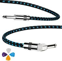 """10FT Guitar Cable Electric Instrument Cable Pedal Bass AMP  1/4""""  Cord Cable US"""