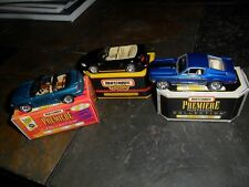 3 CAR LOT MATCHBOX PREMIERE COLLECTION REALRIDER 1999 FORD MUSTANG 1968 COBRA