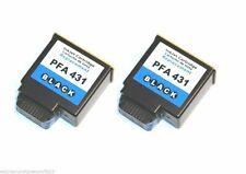 Black 2 Druckerpatronen für Philips PFA 431 XL Faxjet 330