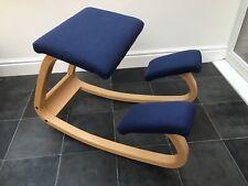 Stokke Variable Balans Kneeling Chair Blue Orthopaedic Back Spine Varier