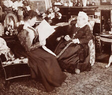 Queen Victoria & Princess Beatrice by Mary Steen 1895 6x5 Inch Reprint Photo