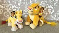 Official Disneyland Paris Nala AND Disney Store Simba Lion King Soft Plush Toys