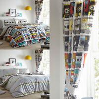 RETRO CASSETTES Cool Reversible Duvet Cover/Quilt Cover Set Bedding Range Multi