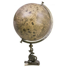 "Dragon Stand Globe Jodocus Hondius 1627 Old World 21"" Nautical Tabletop Decor"