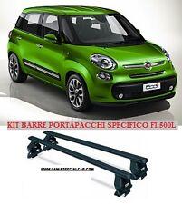BARRE tetto PORTAPACCHI box PER NEW FIAT 500 L + LIVING + TREKKING.