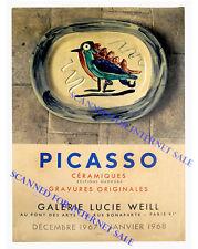 Stunning Photo of Picasso Madoura Ceramics Exhibition Card Paris France 1967