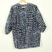 Vintage 90s Valentino Swim Cover Up Shirt Dress Tunic Black White Print S M L