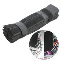 KM_ 50x Reusable Nylon Magic Tape Cable Tie Fasten Straps Wire Holder Organize