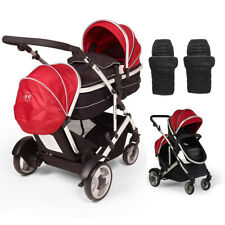Kids Kargo Duel DS Double Single pushchair pram tandem carrycot Twin