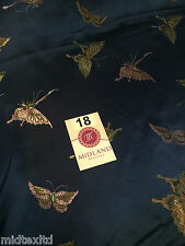 "CHINESE ORIENTAL BUTTERFLY BROCADE SILKY SATIN DRESS FABRIC 44"" wide Mtex M57"