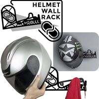 Hanger Bike Helmet Bike Holder for Helmet 100% Steel Made Spain Color Black NEW