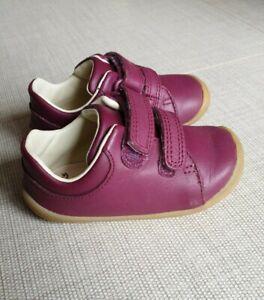 Clarks 4F Infant Toddler Shoes Purple  Excellent Condition