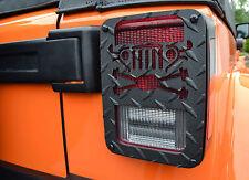 Jeep Tweaks Black Crossed Axles Taillight Guards Jeep Wrangler JK 07-15- JT05-B
