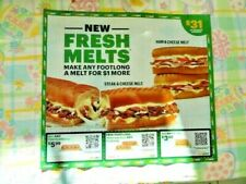 🥪🥤🍪 SUBWAY Sheet of 15 Coupons expire 6/11/2021 🥪🥤🍪