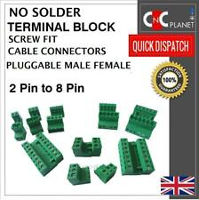 In-Line Câble enfichable non Solder PCB Connecteur à vis 5.08 mm 2 3 4 5 6 7 8 broches