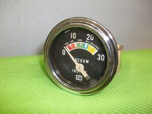 STEWART WARNER Vintage Vacuum Gauge Gasser Rat Rod Mopar Ford GM