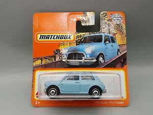 Matchbox Austin Mini Cooper 1964 Diecast Model Car Powder Blue New in Box