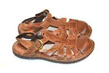 Men's Closed Toe BORN Brown Leather Sandals sz. 11