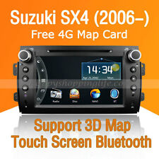 2 Din Car Dash DVD Player Radio Stereo GPS Navigation BT for Suzuki SX4 (2006-)