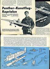 Bauplan Motorflugmodell Panther-Kunstflug - Original von 1956