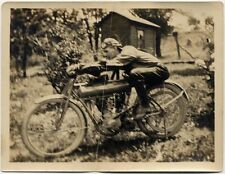 MAN RIDING Flying Merkel MOTORCYCLE PHOTO