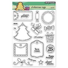PENNY BLACK RUBBER STAMPS CLEAR CHRISTMAS TAGS NEW STAMP 2013