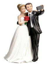 SELFIE COUPLE WEDDING CAKE TOPPER