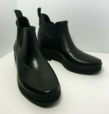Vintage 1990s ARIAT Black Rain Boots Womens Sz 7 ( measure at 9.25 inches )