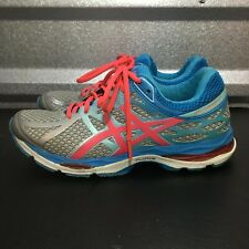 Asics Womens Gel Cumulus 17 Running Shoes Size 8.5 Blue Silver Red T5D8N