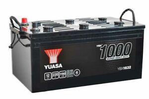YUASA YBX1632 625SHD 12v 220ah 1150A Super Heavy Duty SMF Battery