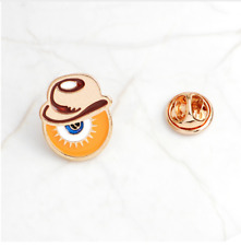 CLOCKWORK ORANGE ALEX EYE BAKED ENAMEL PIN - skinhead oi! droog punx