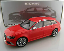 audi rs 6 Avant 2013 in Red minichmps Scale 1:18 NIP