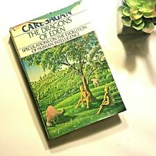 1st FIRST Ed The Dragons of Eden Carl Sagan 1977 HB DJ Evolution of Intelligence