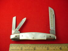 FIGHT'N ROOSTER CAPTAIN'S ROOSTER PEARL CONGRESS WHITTLER KNIFE GEMS IN BOLSTERS