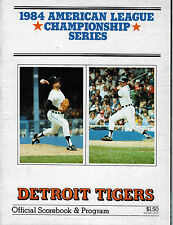 Detroit Tigers 1984 American League Championship Series Program