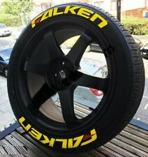 """FALKEN FULLSET YELLOW Tire Letters Stickers decal HIGH QUALITY 14"""" to 22"""" glue"""