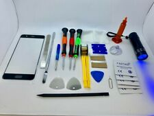 Screen Glass Repair Pieces and Tools Set for Huawei P10 Plus, Glue, Torch