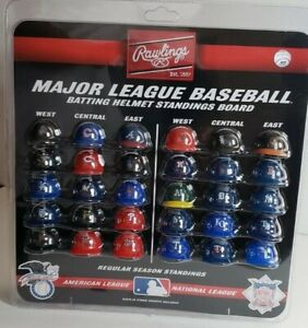 Rawlings MLB Major League Baseball Batting Mini Helmet Standings Board NEW