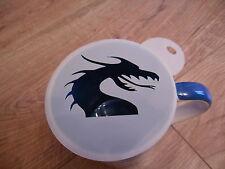 LASER CUT Dragon Design Caffè e artigianali Stencil